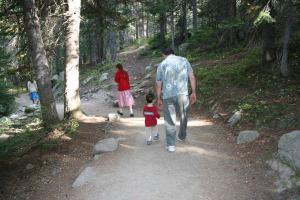 Hiking the path to Albertia Falls.