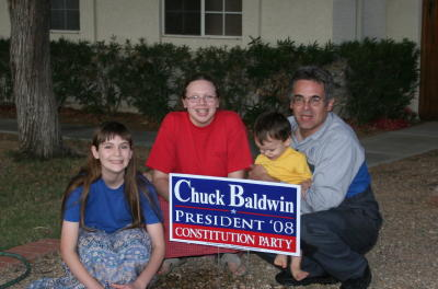 ... write in Chuck Baldwin for president...
