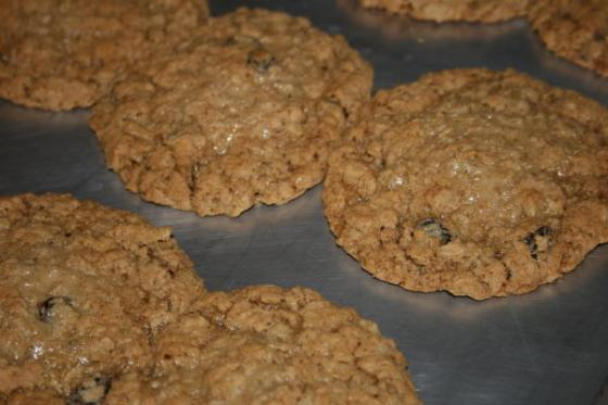 oatmeal raisin cookies for Dad