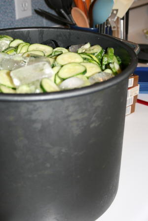about 3 gallons of cucumbers